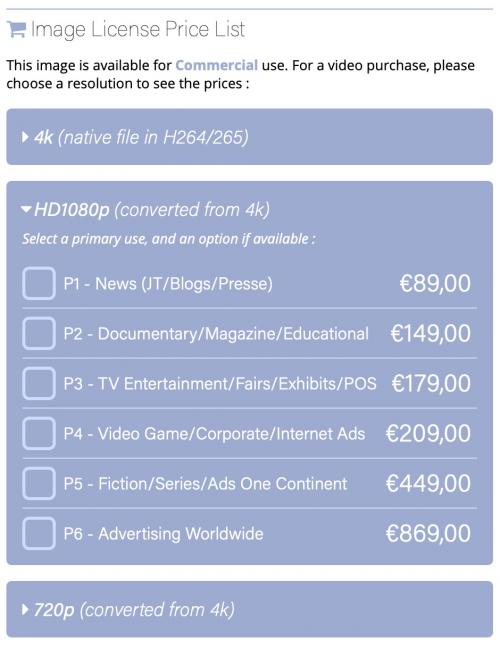 HD1080p Price List - UK