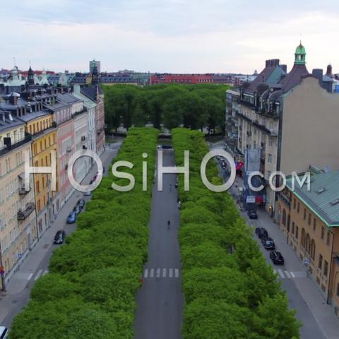 Aerial View Over Stockholm's Beautiful City Hall, View From Riddarholmen, Sweden